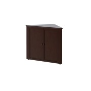 Craft Kids Youth Teen Bedroom Furniture Espresso Dark Finish Corner Cabinet