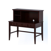 Espresso finish Desk with Hutch Craft Kids Furniture