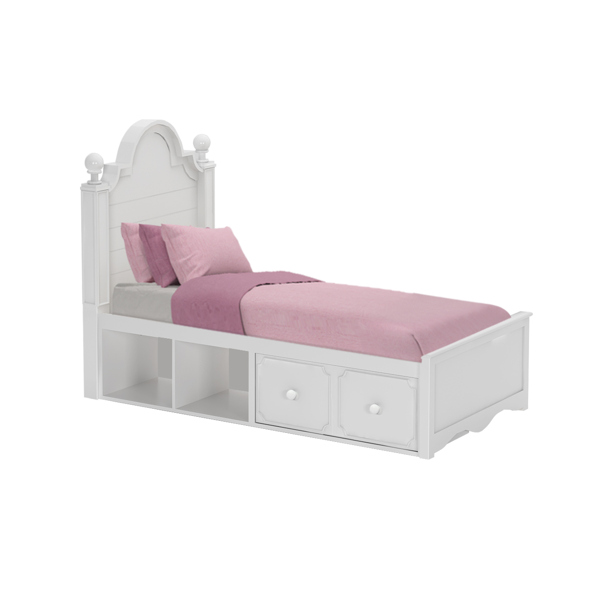 Adelaide Twin Captains Bed Drawers Amp Cubbies White Craft