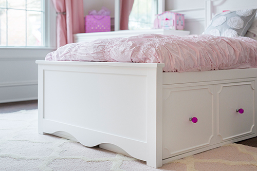 White bedroom furniture teen bed