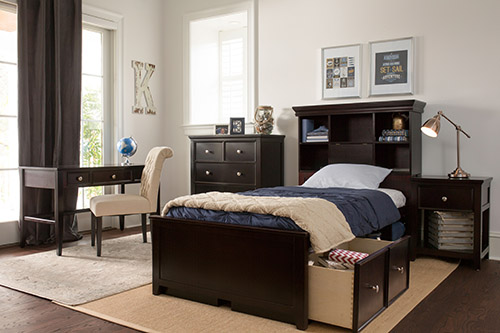 storage bed with underbed storage drawers