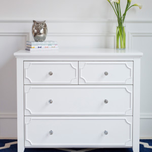 CRAFT-2OVER2-DRAWER-DRESSER-WHITE-CLEAR-CRYSTAL-KNOBS-OWL