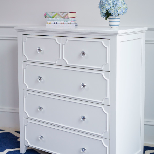 2 over 3 Drawer Dresser White | Craft Bedroom Furniture