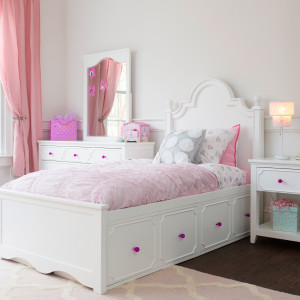CRAFT-ADELAIDE3-WHITE-DRESSER-MIRROR-NIGHTSTAND-FUCHSIA-CRYSTAL-KNOBS