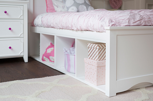 Girls White Bed With Storage