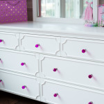 CRAFT-3OVER4-DRAWER-DRESSER-MIRROR-WHITE-FUCHSIA-CRYSTAL-KNOBS-CLOSEUP
