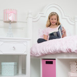 CRAFT-SYDNEY3-WHITE-PINK-CUBBY-BINS-NIGHTSTAND-CLEAR-CRYSTAL-KNOB-GIRL-BOOK