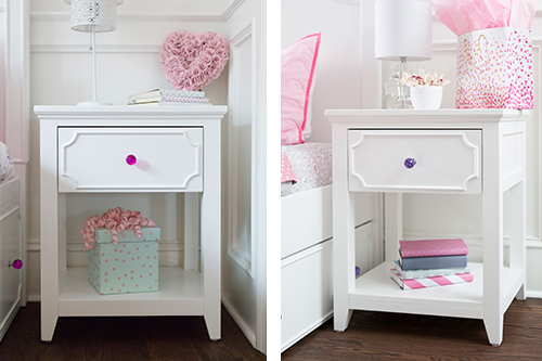 White nightstand bedroom furniture